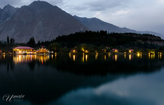 Serene Evening (Umair Nasir's) Tags: evening lights skardu shangrila lake kachura pakistan trees mountains
