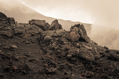Mount Etna (AndiZ275) Tags: landscape active amazing black etna europe hot italy lava lavaflow magma mountain rocks sepiatone sicily tourism travel volcano