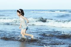 ( aikawake) Tags: littlegirl sea baby run running happy happiness ocean summer beach crazy awesome kid child childhood children wonderful love great good cute beauty sunshine              nature     taiwanese smile laugh fly
