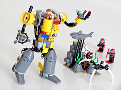 60092 Research Mech (NKubate) Tags: lego city 60092 alternate mech submarine sea