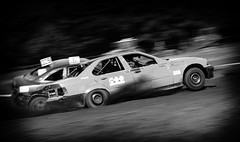 dogfight (O.I.S.) Tags: autocross offroad off road bw sw racing race racer cars action 50d 70200 dirt track