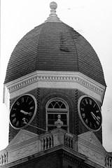 Clock Tower (Robchaos) Tags: slr film westminster iso800 nikon kodak maryland carrollcounty ft2 caffenol