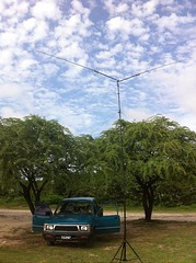 J69DS pickup and Buddipole on Pigeon Point Beach