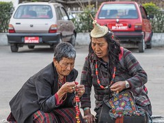 two nomadic visitors (alison ryde - back in town for now) Tags: travel people holiday festival march clothing asia bhutan buddhist buddhism east kira punaka february himalaya traditionalcostume tego phototrip 2015 rachus wonju tribalcostume kingdomofbhutan himalayankingdoms bhutanesepeople alisonryde olympusem1