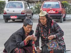 two nomadic visitors (alison ryde - back in town for now) Tags: travel people holiday festival march clothing asia bhutan buddhist buddhism east kira punaka february himalaya traditionalcostume tego phototrip 2015 rachus wonju tribalcostume kingdomofbhutan himalayankingdoms bhutanesepeople alisonryde olympusem1