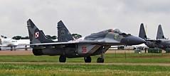 MIKOYAN-GUREVICH MIG-29 56 (Fleet flyer) Tags: fighter poland gloucestershire russian 56 mig riat mig29 royalinternationalairtattoo raffairford mikoyangurevich polishairforce siypowietrzne mikoyangurevichmig29 mikoyangurevichmig2956