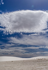 Layers of white (Ninja Mom) Tags: newmexico clouds landscape flare nationalmonument sunflare intothesun whitesandsnationalmonument southwestroadtripapril2015