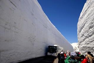 ✪春の立山 雪の大谷② -富山県室堂-