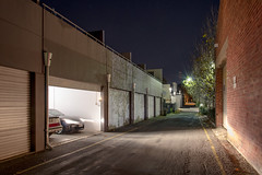 Depature on Little King William (Andrew_Dempster) Tags: longexposure nightphotography urban night garage australia sa southaustralia carheadlights kenttown littlekingwilliamst