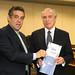 24-03-2015 - Marcelo Barbieri, prefeito de Araraquara/SP com o vice-presidente Michel Temer.  Fotos: Romério Cunha