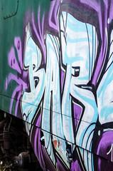artwork on a ld railway wagon (-BigM-) Tags: station germany wagon deutschland photography graffiti fotografie eisenbahn railway bahnhof oldtimer baden modelleisenbahn fils bhf wagen bigm württemberg verein göppingen süsen