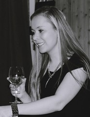 telling you the story (Anamaria Brigitte) Tags: birthday family 2 party bw white black glass smile wonderful hair fun long place candid champagne happiness together be talking