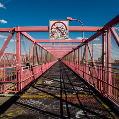 nobikes | williamsburg bridge [2/4] | new york city, september 2014 | #LumixGX7 (domlen) Tags: nyc newyorkcity bridge summer usa ny newyork bike architecture brooklyn steel urlaub roadtrip biking williamsburg velo williamsburgbridge strett rundreise privat urbancity