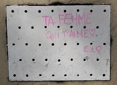 Jour 107 : Déclaration d'amour dans la rue. (Anne-Christelle) Tags: pink rose phrase avril mots projet365 75011paris