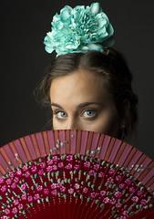 Blue Eyes (GonzaloAlcolea1) Tags: blue sevilla model eyes like blonde svq flamenca sevillana