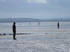 DSCF0654 (SierPinskiA) Tags: sea shells beach liverpool sand ironman pools barnacles ironwork mayday seashore merseyside anthonygormley irishsea 2016 anotherplace crosbybeach blundellsands fujixs1