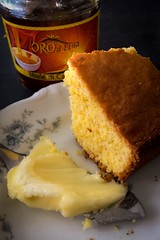 (196/366) Morning Cornbread (CarusoPhoto) Tags: cornbread honey butter eat john caruso carusophoto photo day project 365 366 iphone 6 plus morning natural light window