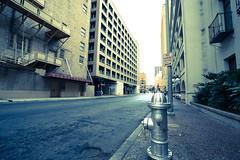 Hydrant and Street (DiscoloredBlueSummers) Tags: fe1635mmf4zaoss sel1635z street hydrant building road