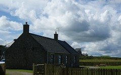 Cottage and Cloud Formation Lossie Seafront (lindawood2414) Tags: cottage house fence chimneys windows stone tvaerial
