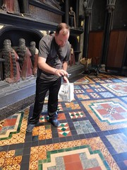 Haws checking out the floor (BBuzz1) Tags: saintpatrickscathedral westsalemhighschool westsalemhighschoolfrench wshsfrench wshseurotrip dublin