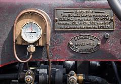 Daresbury traction engine detail 01 jul 16 (Shaun the grime lover) Tags: detail sign warrington cheshire traction engine fair steam marshall machinery pressure gauge boiler gage firebox daresbury halton