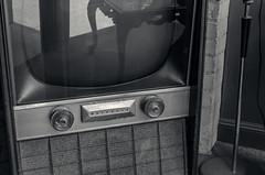 Flat Screen's Grandfather (JeffStewartPhotos) Tags: tv television motorola classic antique oldfashioned oldschool retro old older technology grandfather grandmother store queenstreet queenstreeteast toronto ontario canada blackandwhite blackwhite bw toned walkingwithmaryc