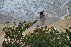 Almost Off Her Rocker (mysticislandphoto) Tags: travel viet vietnam nam people beach