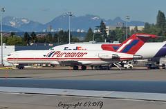 Boeing 727-223F C-GGKF Purolator (EI-DTG) Tags: planespotting aircraftspotting boeing vancouver vancouverinternational yvr 30jun2014 britishcolumbia bc cggkf purolator boeing727 b727 ttailboeing freighter cargo triholer