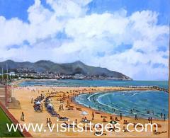 """Exposici """"Platges de Sitges"""" (Sitges - Visit Sitges) Tags: platges de sitges 2016 exposici art arte pintors pintores exposicin edifici miramar cuadres cuadros visitsitges"""