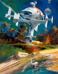 End of the Run by John Conrad Berkey, 2001 (Tom Simpson) Tags: 2001 art illustration painting space scifi sciencefiction spaceship 2000s scifiart johnberkey endoftherun johnconradberkey