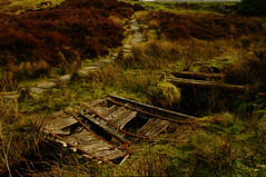 The old crossing (Richie Rue) Tags: nikond300 outdoors landscape bridge path moor moorland crossing old rotten rotting decay wood derelict color colour