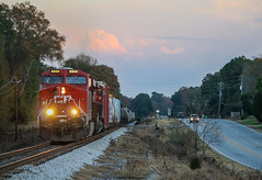 CP's on 619 (weshendrix) Tags: railroad atlanta sunset train ga georgia pacific outdoor rr canadian locomotive bogart division cp ge railfan freight csx subdivision abbeville manifest statham es44ac