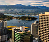 Coal Harbor (beelzebub2011) Tags: canada britishcolumbia vancouver downtown harborcenter panorama burrardinlet coalharbor stanleypark mountains