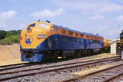 CNJ 56D57, Bridgeton, NJ. 7-31-2000 (jackdk) Tags: train railroad railway emd emdf7 emdf3 emdf7a emdf9 f3 f3a f7 f7a cnj centralrailroadofnewjersey jerseycentral ww liberty bridgeton bridgetonnewjersey locomotive locomotiveroster roster coveredwagon