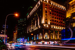 Tron (duncan_mclean) Tags: lights abstract newyork 5thavenue zoom architecture lines lighttrails