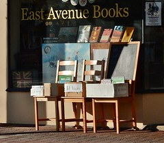 East Avenue Books for $1 (mikecogh) Tags: bookstore boxes books cheap 1 chairs blackforest