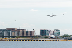 Cityjet - British Aerospace Avro RJ85 - EI-RJH  London City Airport (paulstevenchalmers) Tags: londoncity london lcy airport