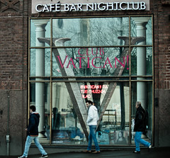 Club Vatican! (Jori Samonen) Tags: caf bar nightclub club vatican window reflection people men street simonkatu helsinki finland sony ilce3000 canon efs 55250mm f456 is