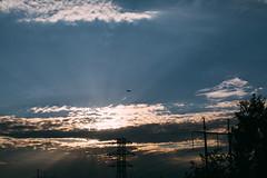 Cargo Plane (Frostroomhead) Tags: plane clouds sky fly sigma 30mm f14 art nikon d5200 sun