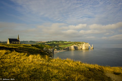 DSC_2849 (fabiennethelu) Tags: etretat borddemer falaise mer plage rocher village seaside seascape cliff sea beach field landscape sunrise normandy nikon france