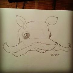 (splinter one) Tags: sketch graffiti poulpe octopus monstre monster mignon kawaii crature animal bb baby artwork splinter86