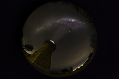 Barrenjoey under the stars (muvro) Tags: barrenjoey lighthouse astro milkyway northernbeaches sydney visitnsw nsw fisheye club16 canonl canon