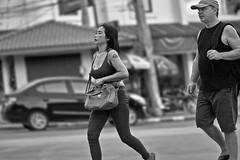 Tattooed (FimRay) Tags: blackandwhite bw monotone monochrome people woman women female females tattoo tattoos tattooed chest breast breasts traditionalstreet street