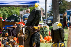 30th Annual Apple Harvest and Craft Fair (dailycollegian) Tags: chrisokeefe apple harvest craft fair amherst center downtown art food chainsaw carving carvings