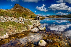 The Boathouse. (bainebiker) Tags: hdr boathouse cregennanlakes caderidres mountain clouds water canonef24mmf14liiusm reflections dolgellau wales athog