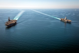 US and French Aircraft Carriers