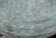 Gingie - textures on a goose (stitchingbushwalker) Tags: opengardens gingie