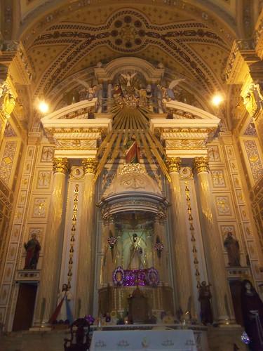 Altar Mayor de la Parroquia de San Andrés Cholula, Pue.