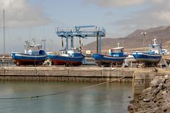 Out of the water (davets26) Tags: fishingboat fuertaventura boatrepair eos7dmk2 morrojabelharbor morrojablefeb15