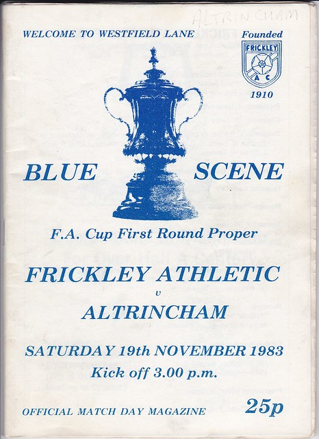 Frickley Athletic V Altrincham 19/11/83 (FA CUP 1st Round)